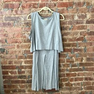 Gray Pleated Two Piece Dress from Gap - XL